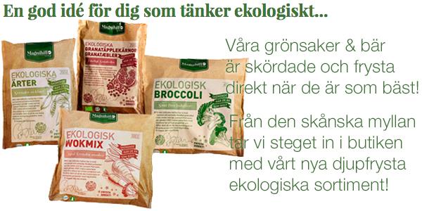 Magnihill ekologiskt butikssortiment